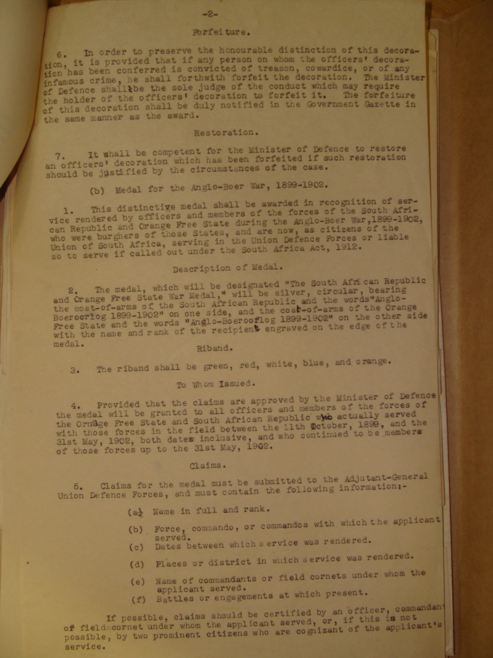 DTD and ABO Medal Regulations & Rulings - Page 4